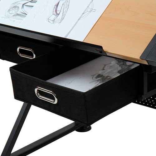 mesa de dibujo con cajones